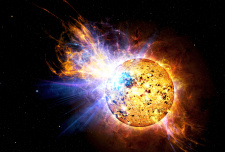 Flare on red dwarf star
